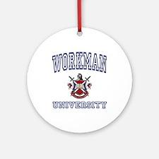 WORKMAN University Ornament (Round)