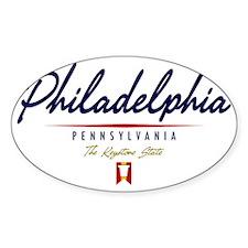 Philadelphia Script W Decal