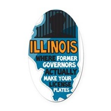 Illinois Governors Oval Car Magnet