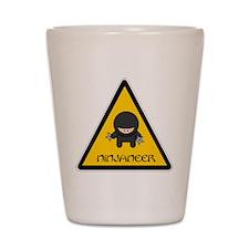 ninjaneer_star_warning_dark Shot Glass