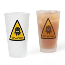 ninjaneer_star_warning_dark Drinking Glass
