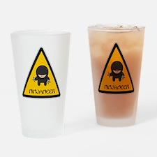 ninjaneer_star_warning_dark Drinking Glass