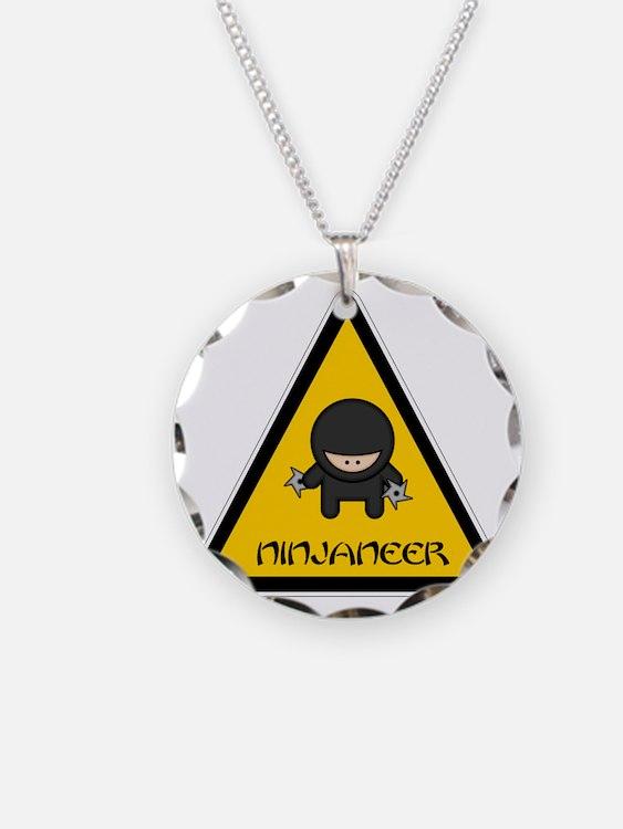 ninjaneer_star_warning_dark Necklace