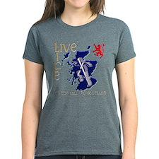 Live Life Scots Running Design T-Shirt