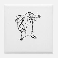 Christian Homeschool Platypus Pride! Tile Coaster