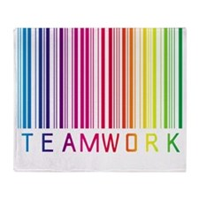 teamwork-bar01 copy Throw Blanket