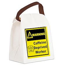 warning02 copy Canvas Lunch Bag