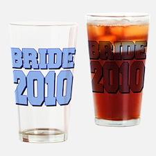 bride2010shadowedblue Drinking Glass