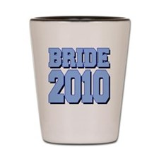 bride2010shadowedblue Shot Glass