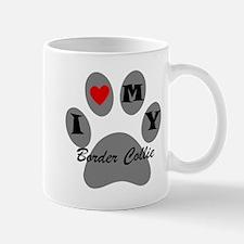 I Heart My Border Collie Mugs