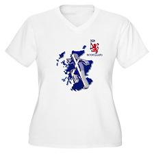 Scotland sprinter running Plus Size T-Shirt