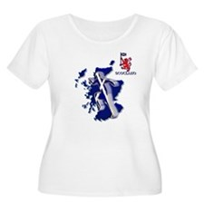 Scotland sprinter running Plus Size T-Shirt