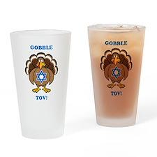 PERSONALIZE Thanksgiving Hanukkah Drinking Glass