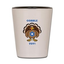 PERSONALIZE Thanksgiving Hanukkah Shot Glass