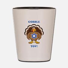 PERSONALIZE Thanksgiving Hanukkah Shot Glass