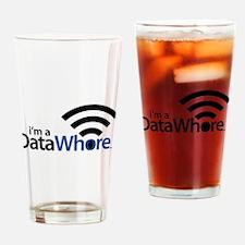Data Whore Drinking Glass
