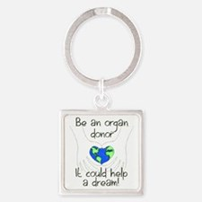 t shirt graphic large Square Keychain