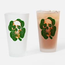irish skull Drinking Glass