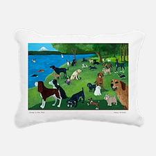 Sunday Park custom Rectangular Canvas Pillow