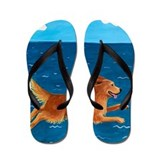Dog golden Flip Flops
