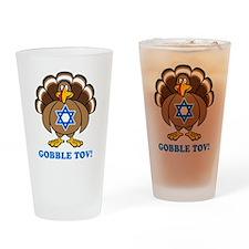 Funny Thanksgiving Hanukkah 2013 Drinking Glass