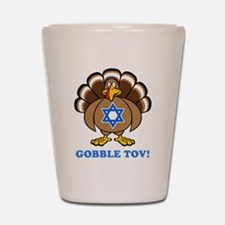 Funny Thanksgiving Hanukkah 2013 Shot Glass