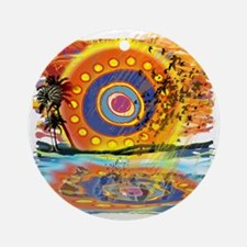 Lost Floating Reflection Round Ornament