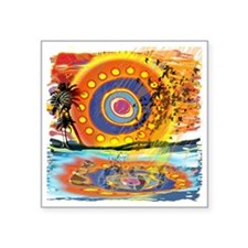 """Lost Floating Reflection Square Sticker 3"""" x 3"""""""