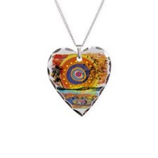 Lost Floating Reflection Necklace Heart Charm
