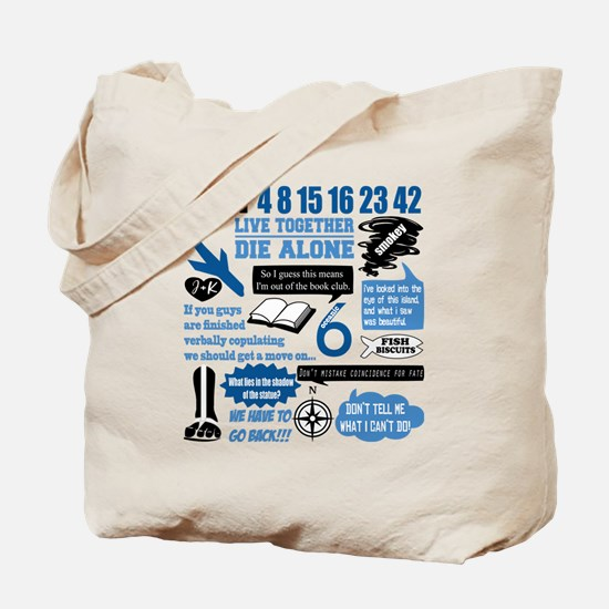 lost-quotes-forlights Tote Bag