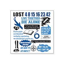 "lost-quotes-forlights Square Sticker 3"" x 3"""