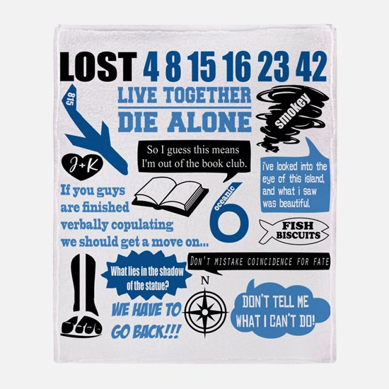lost-quotes-forlights Throw Blanket