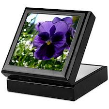 Purple Pansy Keepsake Box