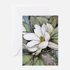 White Magnolia Greeting Card