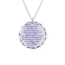 The LORDs Prayer Lt Blue Necklace