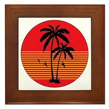 vintage-palm-tree Framed Tile