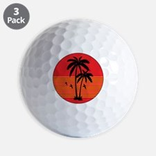 vintage-palm-tree Golf Ball