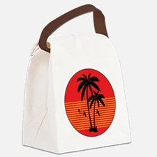 vintage-palm-tree Canvas Lunch Bag