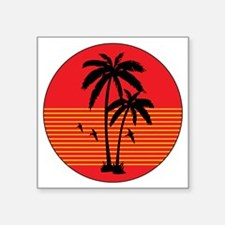 "vintage-palm-tree Square Sticker 3"" x 3"""