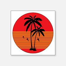 "vintage-palm-tree Square Sticker 3"" x 3"""