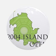 island-golf Round Ornament