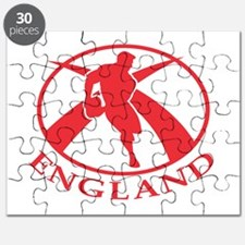 England Rugby player kicking the ball Puzzle