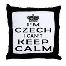 I Am Czech I Can Not Keep Calm Throw Pillow