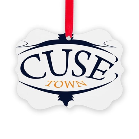 cuse town Picture Ornament