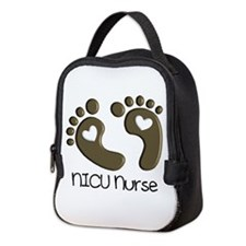 NICU Nurse 3 Neoprene Lunch Bag
