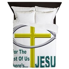 Jesus Therapy Chrome Queen Duvet