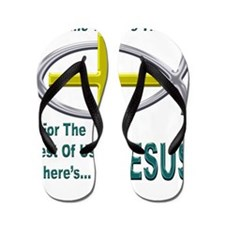 Jesus Therapy Chrome Flip Flops