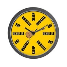 Sleep Eat Ukulele Wall Clock