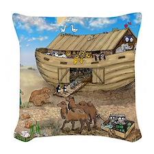 noahs ark cafe press Woven Throw Pillow