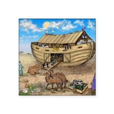 "noahs ark cafe press Square Sticker 3"" x 3"""